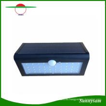 Nuevo 38 LED Luz de pared solar Sensor de movimiento Luz de jardín Lámpara de pared al aire libre 3 modos de funcionamiento para la iluminación del jardín