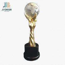 Promotional Gift Gold Custom Enamel Star Logo Metal Oscar Crystal Trophy in Stock
