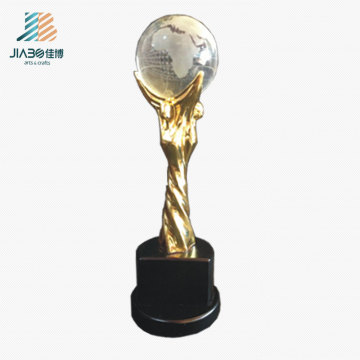 Promotional Gift Gold Custom Enamel Star Logo Metal Oscar Crystal Trophy in Stock