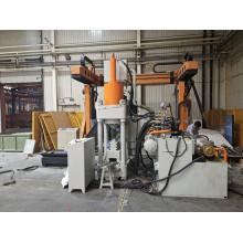 Máquina automática para fazer blocos de aparas de alumínio