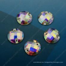 Piedra cortada a máquina del vidrio suelto de Ab para los accesorios de la ropa (DZ-3043)