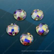Pedra de vidro solta do ab do corte de máquina para os acessórios do vestuário (DZ-3043)