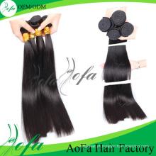 Weave 100% costurado dobro do cabelo humano de Remy Yaki do trama