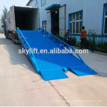 hydraulic container loading dock ramp lift; lifting range:0.9m