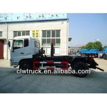 DFL caminhão de lixo de 8 a 10 toneladas com braço articulado com latas