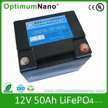 Batterie de 12V 50ah LiFePO4 pour l'UPS, stockage d'énergie avec PCM