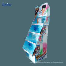 Kosmetik-Shop-Nagellack-Anzeigen-Regal, Boden-stehender Kleinkosmetik-Nagellack-Stand
