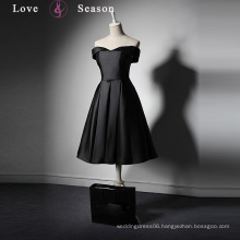 LSQ019 Satin mini women sex party dress for fat girls short front long back formal dress patterns
