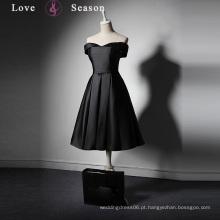 LSQ019 Vestido de festa de sexo feminino de cetim mini para garotas gordas padrão de vestido formal de frente longo longo