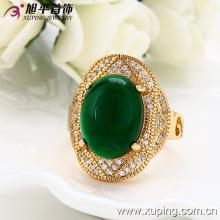Мода роскошный 18k золото покрытием ювелирных изделий мужчин кольцо с экологической медь -12846