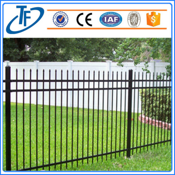 Black Powder Painted Spear Top Security Fence