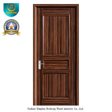 Porta de madeira maciça de estilo moderno para interior (ds-095)