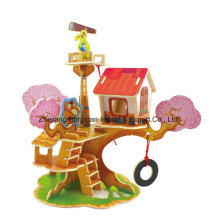 Wood Collectibles Toy for DIY Houses-Watchtower House