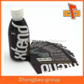 Heat PVC plastic sleeve shrink wrap bottle label with custom print