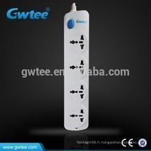 Fabriqué en Chine 4 voies universel prise de courant électrique