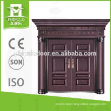 High quality double leaf villa copper door with luxury design