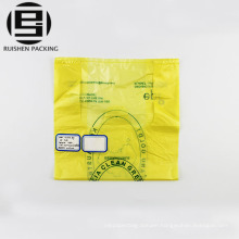 Quality printed yellow t-shirt packaging bags