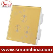 Interruptor táctil de pared de 3 patas, tomacorriente de pared inteligente, para interruptores de control remoto para el hogar y el hotel