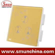 3 Gang Wall Touch Switch, Smart Wall Socket, for Home and Hotel Remote Control Switches