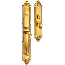 Estilo europeu luxuoso fechadura de porta comercial com liga de zinco