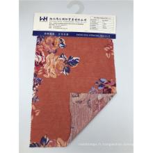 Tissu tricoté à motif de fleurs 100% polyester