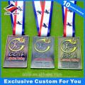 Médaille du championnat de volleyball rectangle Avec votre propre logo