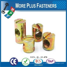 Fabriqué à Taiwan Cross Dowel Barrel Nut