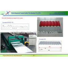 Hochgeschwindigkeitsstahl-Wellblech-Plattenherstellungsmaschine --- CE Stander