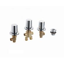 China Factory hot sale bath shower mixer faucets 2 ways brass bathtub faucet