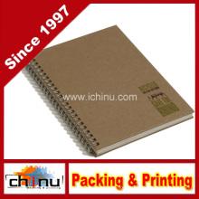 Caderno de arame duplo reciclado, Tan (520066)