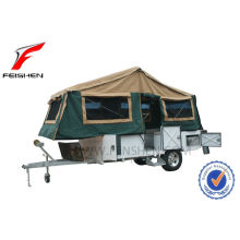 Forward folding hard floor camper trailer