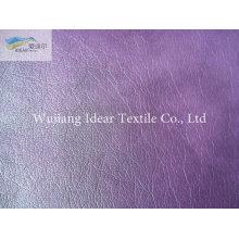 Roxo em relevo PU couro tecido/falso PU couro tecido