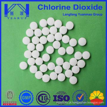 O branqueamento de dióxido de cloro em tecidos de algodão Decoloração