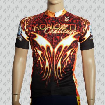 Sublimation Printing Coolmax Kurzarm Radfahren Jersey / Radfahren tragen