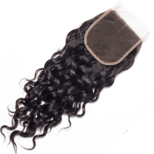 Water 5x5 Raw High Quality Ear To Ear Swiss Net Brazilian Front Unprocessed Human Hair Bundles With Invisible 4/4 Lace Closure