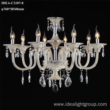 glass hanging chandelier crystal candle lights