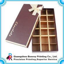 Kundenspezifischer dekorativer Verpackungsschokoladenpapier-Kastengroßhandel
