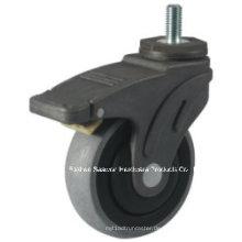 Caster Wheel Leitfähige medizinische TPR Caster (Gewindestiel mit Bremsentyp)