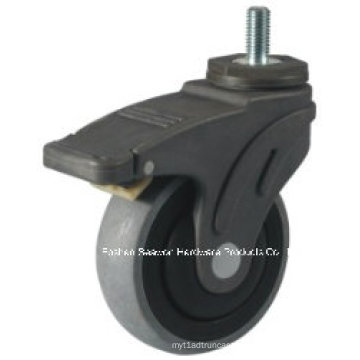 Caster Wheel Conductive Medical TPR Caster (Threaded stem with brake type)