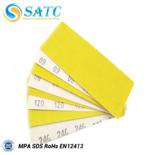Papel de lija de óxido de aluminio amarillo con buen precio y alta calidad para pulir