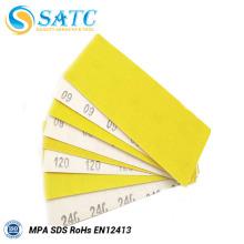 Papel amarelo da areia do óxido de alumínio com bom preço e de alta qualidade para lustrar