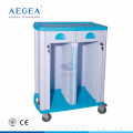AG-CHT003 ABS Hospital nurse movable records storage patient file trolley