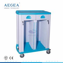 AG-CHT003 ABS Krankenhauskrankenschwester beweglicher Aktenspeicherpatientendateilaufkatze