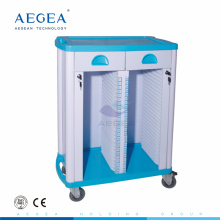AG-CHT003 Double rows hospital ABS material medication file trolley