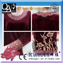 Элегантный один глава два цвета кристалл камень машина вышивки для платья