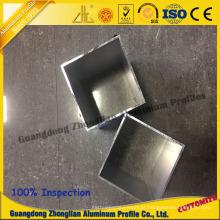 China Suprimentos de fabricantes de alumínio abastecido tubo quadrado de alumínio