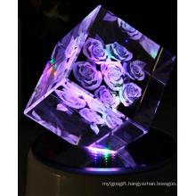 Elegant High Grade K9 Crystal Custom Photos in China