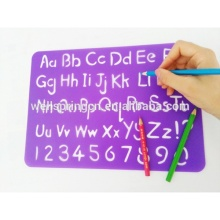Non-toxic customized pp stencil plastic sheets for kids