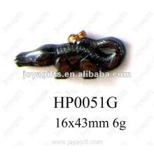 Hematite Crocodilia Pendants