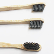 Small Green Ecological Bamboo Toothbrush Carbon Brush Hair
